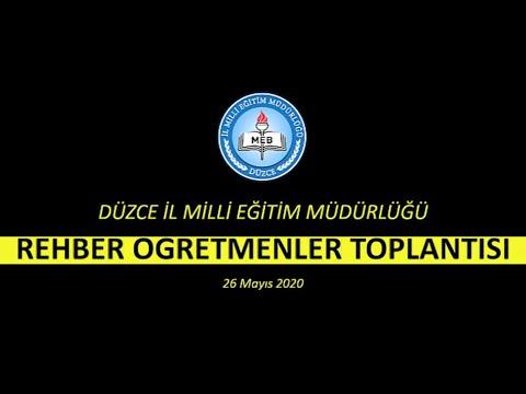 Murat YİĞİT Düzce Milli Eğitim Müdürü - Rehber Öğretmenlerle Uzaktan Canlı Toplantı