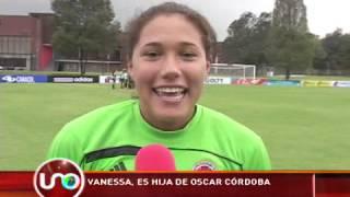 Hija de Óscar Córdoba es la arquera de la selección Colombia femenina sub20