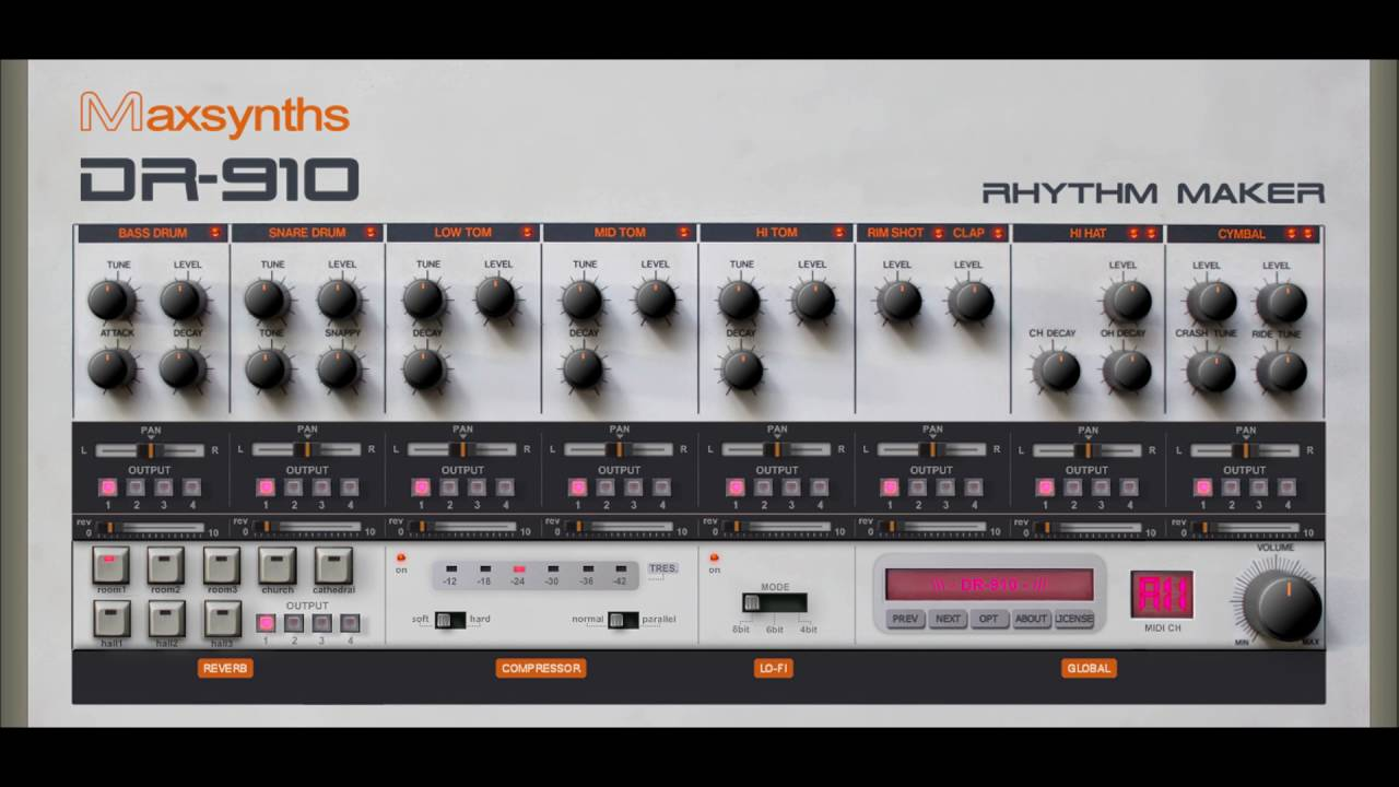 free roland tr 909 rhythm composer drum machine vst emulation youtube. Black Bedroom Furniture Sets. Home Design Ideas