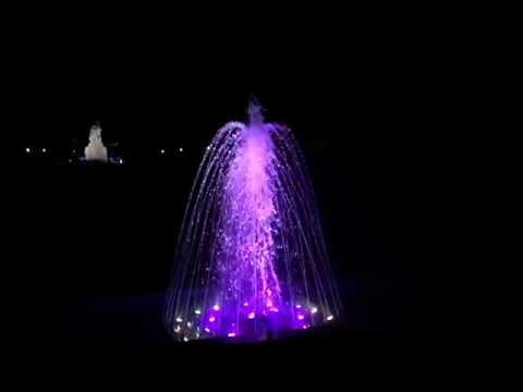 Varna sea garden fountain in Slow Motion