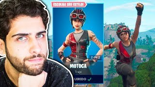 I BOUGHT THE MOTOCA SKIN AND I DO NOT LOSE WITH THIS SKIN!! -Fortnite: Battle Royale