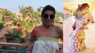 وشوشة  حصرياً... إيمان الشريف صاحبة أغرب فستان فى مهرجان الجونة تكشف عن سر فستانها Washwasha