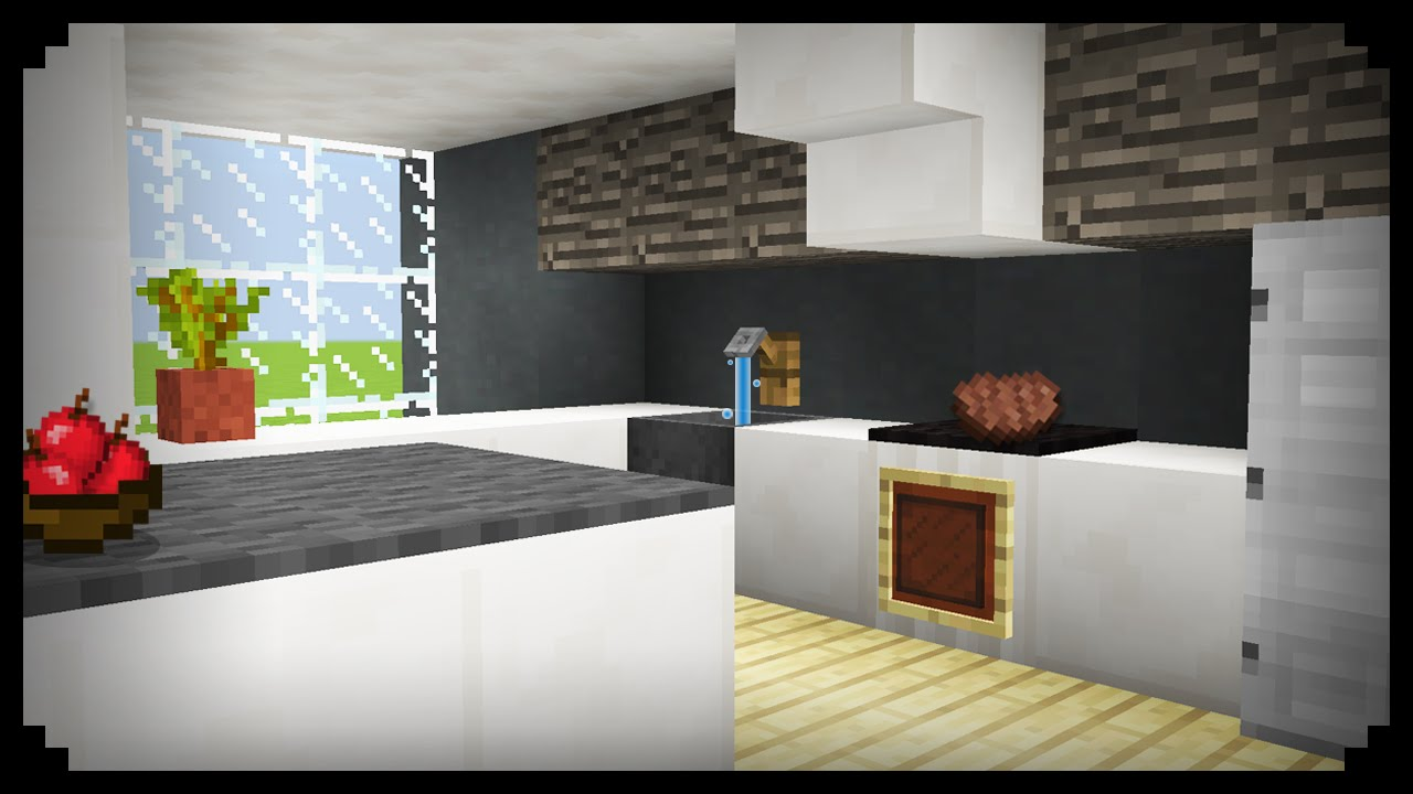 ✓ Minecraft: How To Make A Kitchen   YouTube Part 56