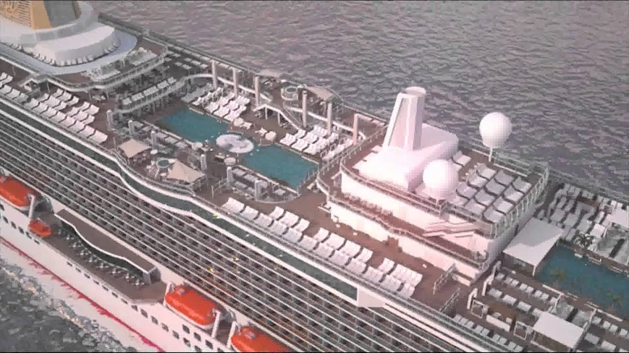 PO Cruises Animation Of Britannia YouTube - Azura cruise ship wiki