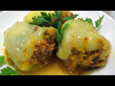 Фаршированный перец с мясом и рисом. Классический рецепт  Stuffed Peppers