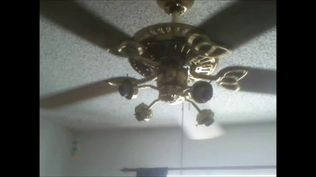 Fta S Encon Monarch Ceiling Fan With 4 Arm Light Kit No Globes Youtube