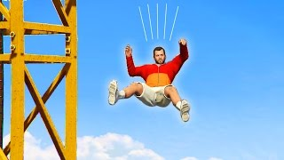 GTA 5 - How High Can You Jump From Without Dying?