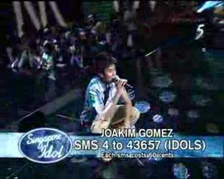 singapore idol - Joakim Gomez (I'll Be There For You)