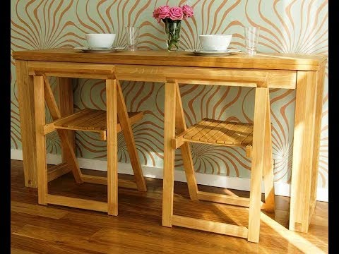 Space Saving Folding Table Design Ideas For Functional Small Rooms