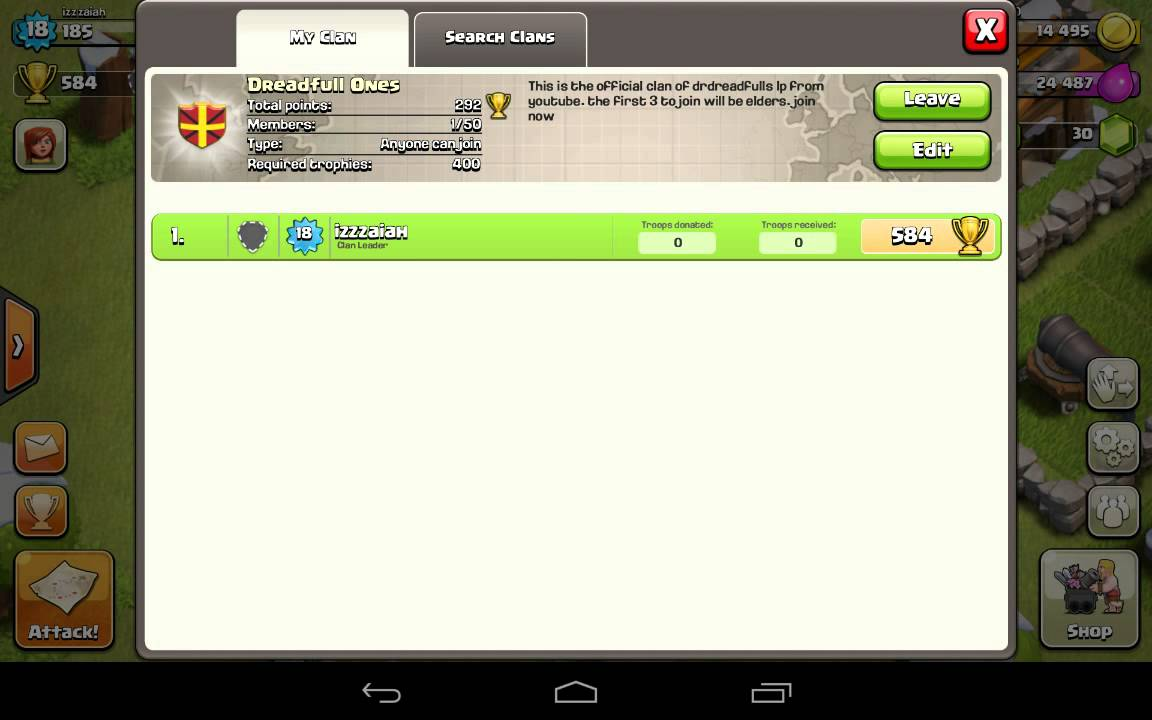 Clash Of Clans Clan Invitation Youtube