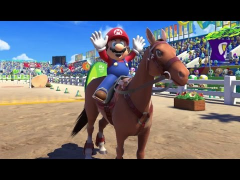 Mario & Sonic at the Rio 2016 Olympic Games - Equestrian (Gameplay with All Characters)