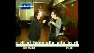 Albano carrisi Ceffone giornalista