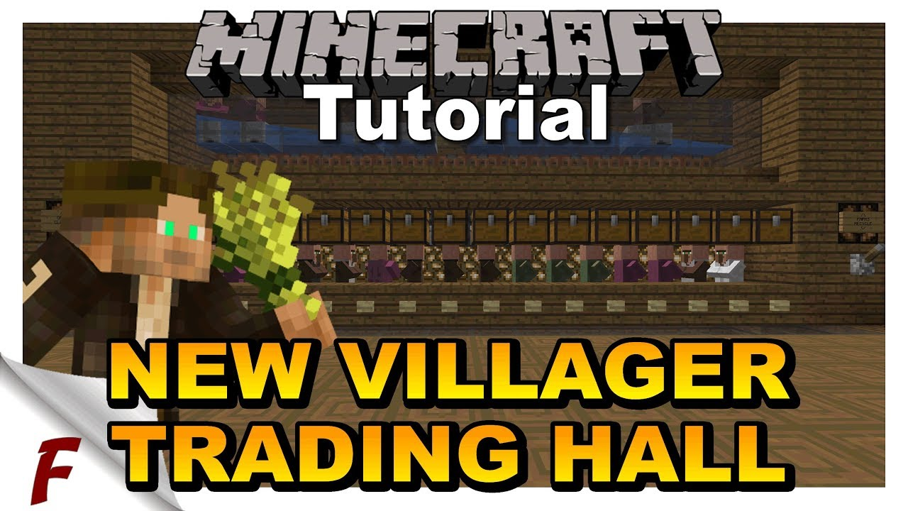 Minecraft villager trading hall tutorial brand new design does not work on bedrock also rh youtube