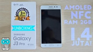 Wow 1,4 Juta Dapet Layar AMOLED + NFC? Unboxing Samsung Galaxy J3 Pro