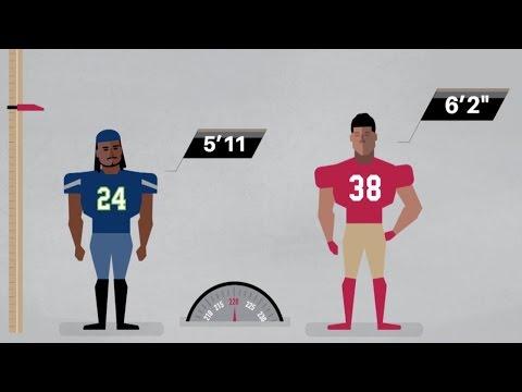 Jarryd Hayne vs. Marshawn Lynch, J.J. Watt & Other Stars | NFL Infographic