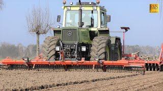 MB trac 1600 turbo Mercedes-Benz Traktor & Sämaschine Kverneland Accord - Zwiebelaussaat sow onions