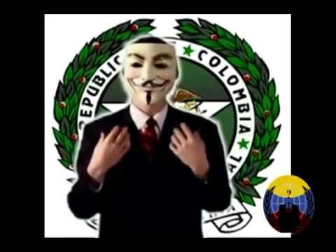 Mensaje De Anonymous Colombia A La Policía Nacional