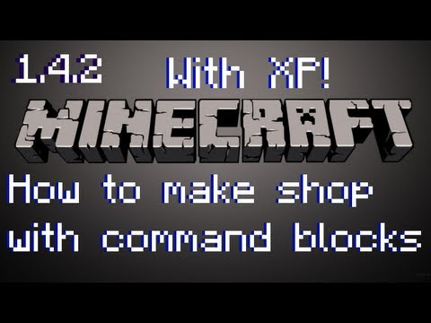 How to make a shop with Command Blocks! (With Levels)