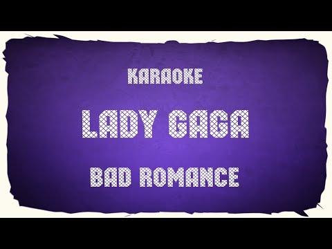 "Lady Gaga ""Bad Romance"" (karaoke+chords)"