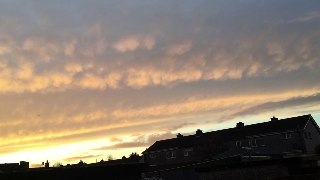 Stunning Back End of a Potent Cold Front at Sunset in Ireland