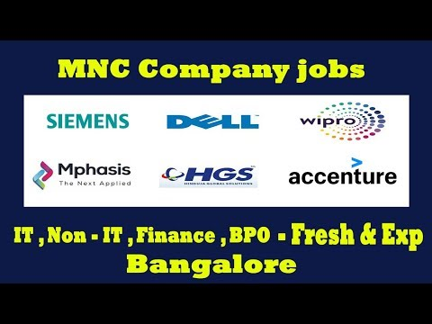 Jobs In Bangalore IT , Non IT , Finance , BPO   Fresher And Experience