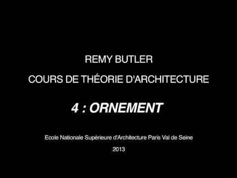 THEORIE D ARCHITECTURE DE REMY BUTLER 4 ORNEMENT