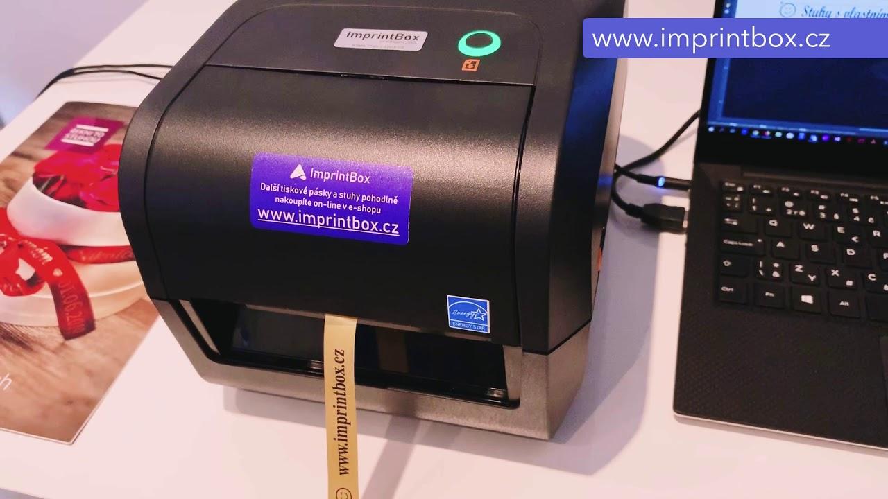 Video použití tiskárny ImprintBox pro potisk stuh.