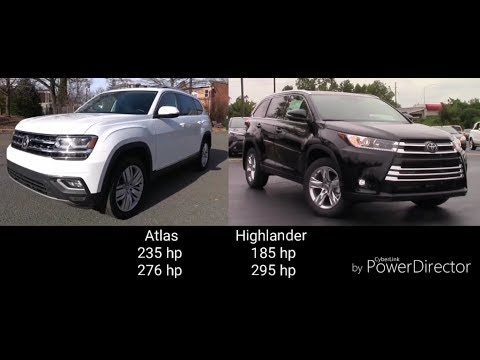 Volkswagen Atlas 2019 vs Toyota Highlander 2019 HD. Comparison