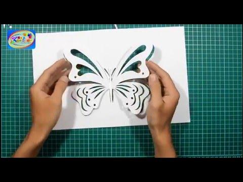 Kirigami : Membuat Kupu-kupu yang lucu