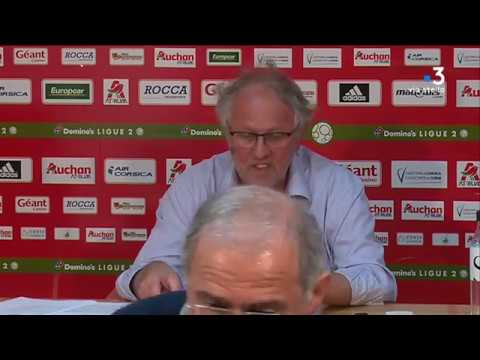 Conférence de presse du président de L'AC Ajaccio (22/05/2018)