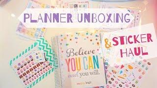 UNBOXING: Erin Condren Life Planner & Sticker HAUL! + Target $1 Spot!