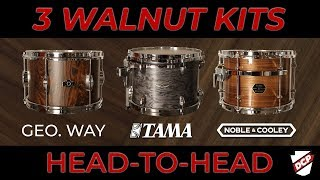 Gambar cover Walnut Drum Set Shootout - Tama Star, George Way, Noble & Cooley!