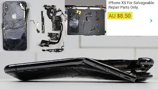 Two Destroyed iPhone XS for $8.50 - Can They Be Saved?
