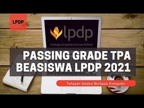 Perlu Tahu, Skor Passing Grade Soal TPA SBK Beasiswa LPDP 2021