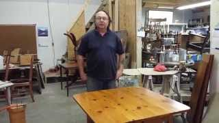 Refinishing A Pine Card Table Timeless Arts Refinishing