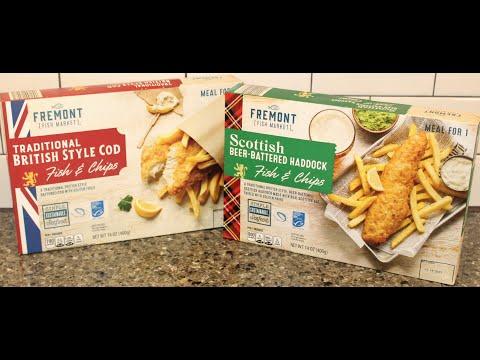 Fremont Fish Market ALDI Fish & Chips Traditional British Style Cod & Scottish Beer-Battered Haddock