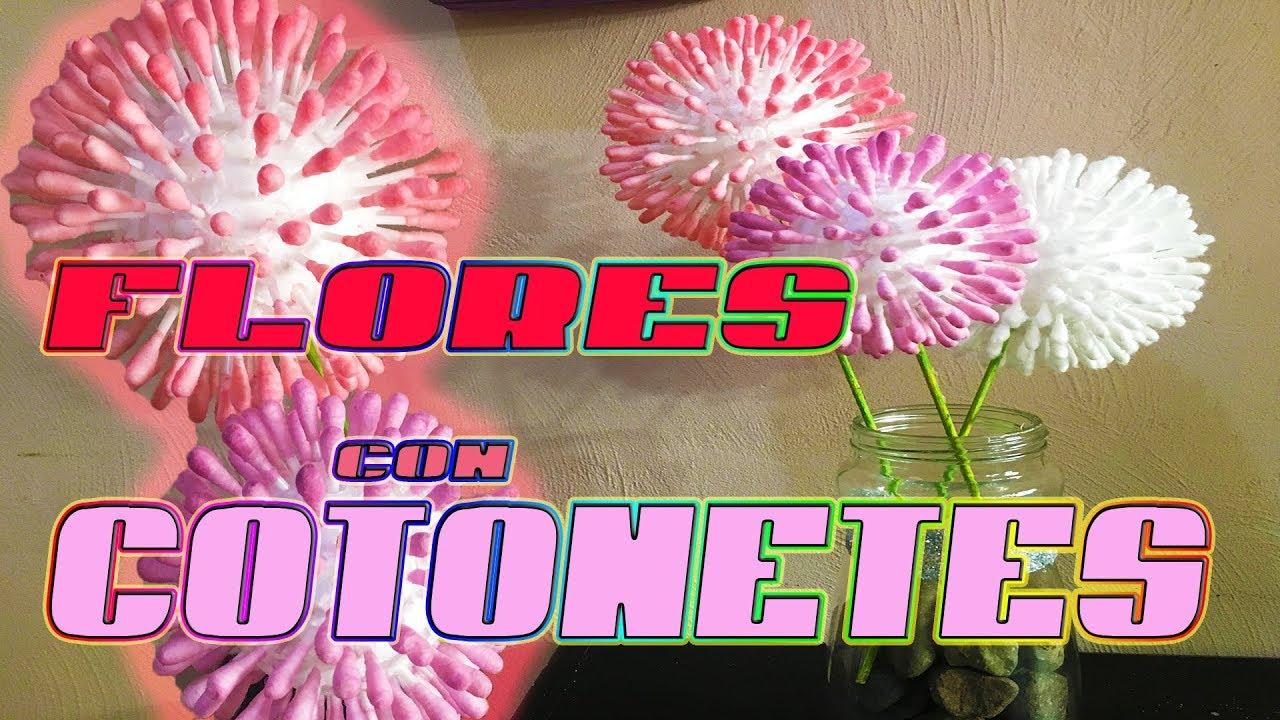 FLORES CON COTONETES/HISOPOS (FACIL) EO077