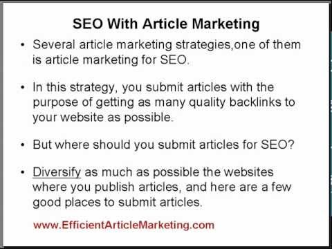 Where to Submit Articles For SEO