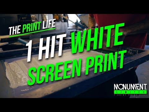 How To Screen Print | 1 Hit White Plastisol Screen Printing Technique | T-Shirt Printing Tutorial