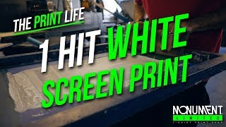 How to Screen Print | 1 Hit White Plastisol Screen Printing Technique | Screen Printing Tutorial