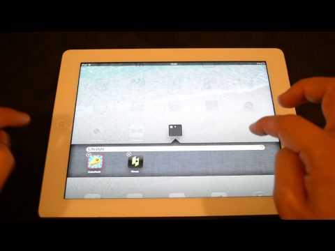Как создать папку на ipad для видео