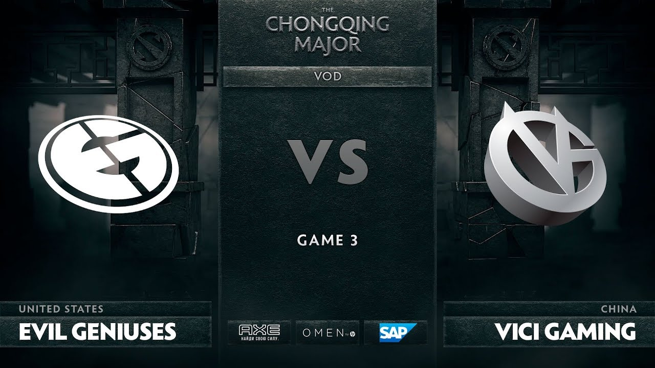 [EN] Evil Geniuses vs Vici Gaming, Game 3, The Chongqing Major LB Round 3