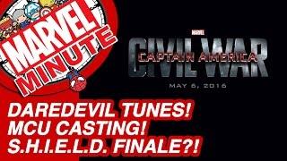 Daredevil Tunes! MCU Casting! S.H.I.E.L.D. Finale?! - Marvel Minute 2015