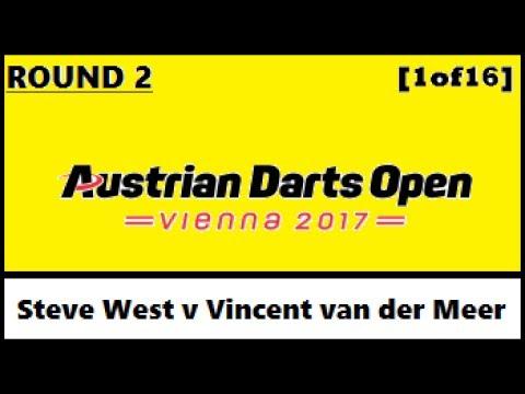 Round 2 [1of16]: Steve West v Vincent van der Meer - Austrian Darts Open 2017 HD