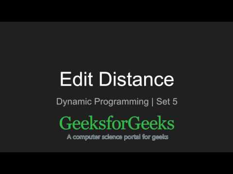 Dynamic Programming | Set 5 (Edit Distance) | GeeksforGeeks