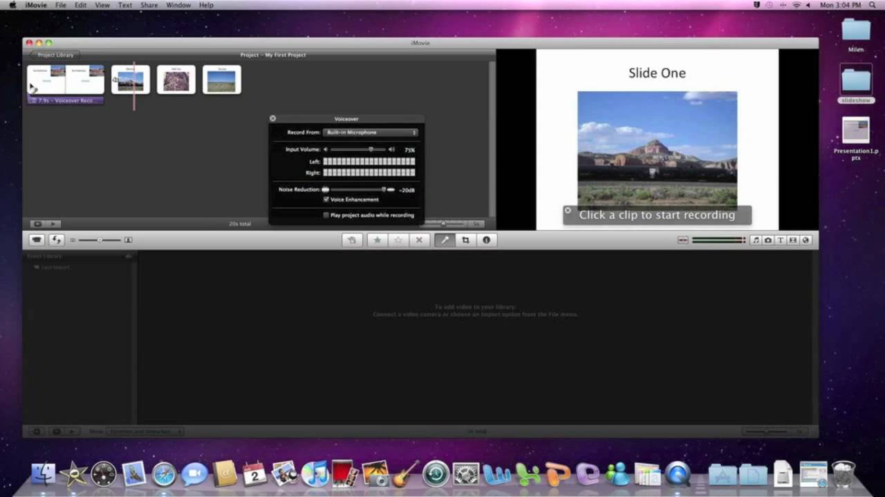 how to watch a movie in imovie