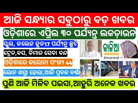 Naveen Patnaik BIG Announcement Today | Today School News |Kalia Yojana 3rd Phase Money |Odisha News