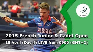 2015 French Junior & Cadet Open – Day 4 LIVE