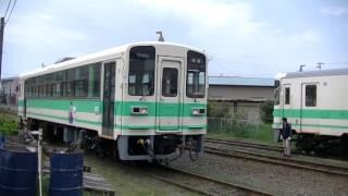 紀州鉄道KR205デビュー|側線から本線にはいるKR205