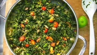 Jamaican Callaloo And Swiss Chard A Wicked Vegetarian Combination.